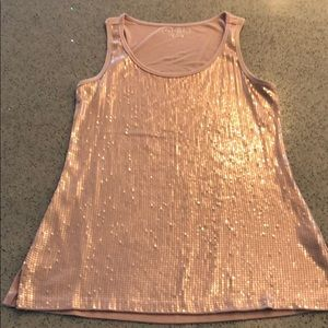 Maurice's Rose Sequins Tank Sz Small